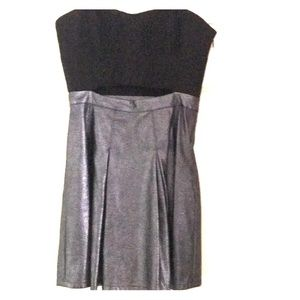 Bcbg Generation strapless silver cutout mini dress
